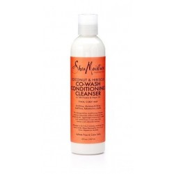 SHEA MOISTURE - COCONUT & HIBISCUS  CO WASH CONDITIONING CLEANSER 12 OZ